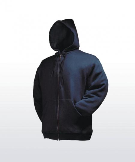 Zipped Kapuzensweat mit individueller Beschriftung
