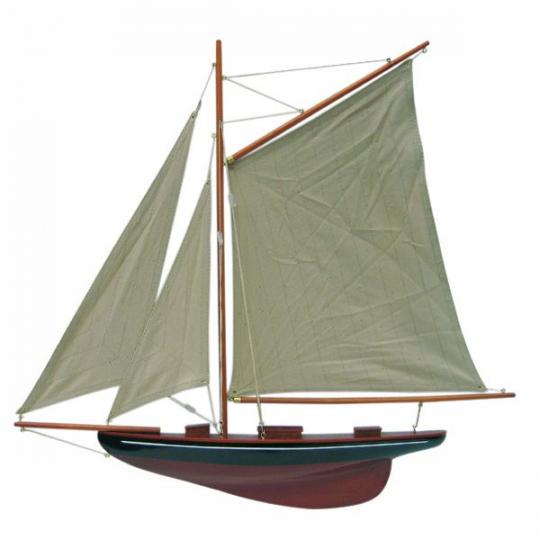 Segel-Yacht Halbmodell L: 56cm, H: 52cm/1
