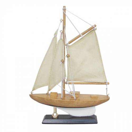 Segel-Yacht L: 15cm, H: 22,5cm