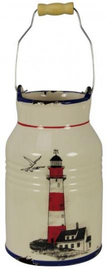 Kanne mit Henkel - Leuchtturmdesign