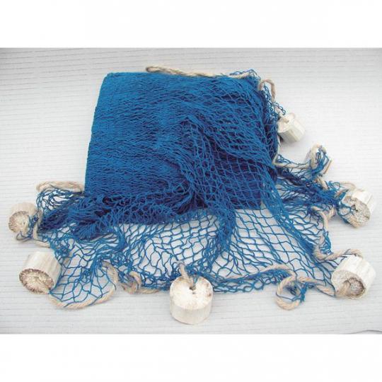 Fischernetz mit Schwimmern blau