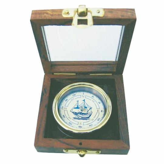Kompass mit Schiffs-Windrose