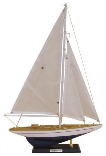 Segel-Yacht - ENTERPRISE L: 32cm, H: 49cm