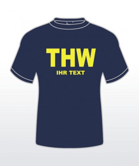 T-Shirt mit Behördenaufdruck 2-zeilig