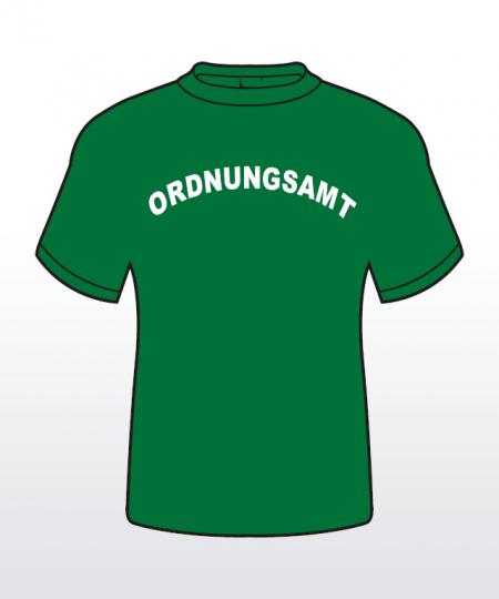T-Shirt mit Behördenaufdruck 1-zeilig abgerundet