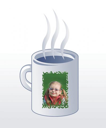 Kaffeebecher mit ihrem Motiv