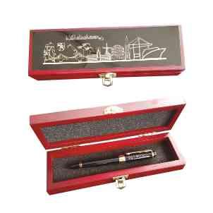 Exquisite Box mit eingravierter Messingplatte