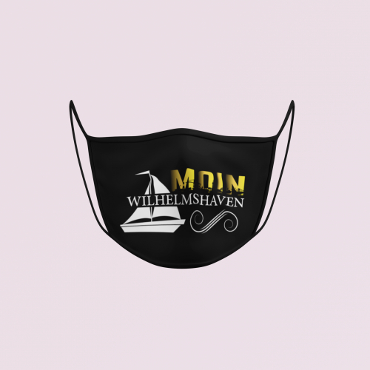 Gesichtsmaske Moin Segel schwarz