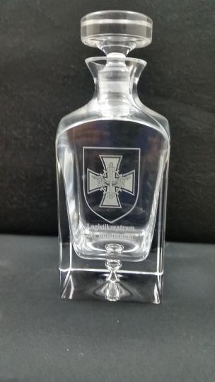 Karaffe Bleikristall 0,75 l mit Gravur