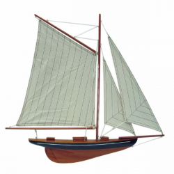 Segel-Yacht Halbmodell L: 56cm, H: 52cm