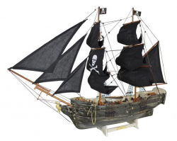 Piratenschiff, Black PearlL: 78cm, H: 60cm