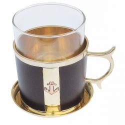 Grog-Glas Tee-Glas Leder