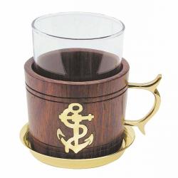 Grog-Glas Tee-Glas Holz