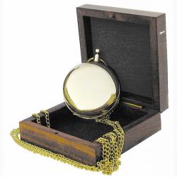 Kompass in Taschenuhrform in Holzbox