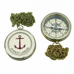 Kompass mit Ankergravur