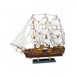 Fregatten-Raddampfer L: 49cm, H: 43cm