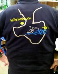 Poloshirt Wilhelmshaven Jadebusen gestickt