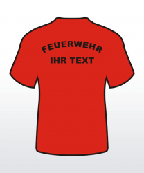 T-Shirt mit Behördenaufdruck 2-zeilig abgerundet