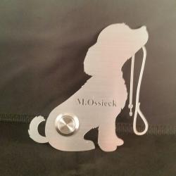 Edelstahlschild, niedlicher Hund