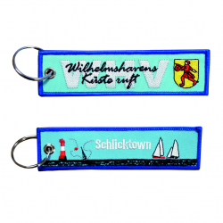 Wilhelmshaven Schlüsselanhänger gestickt