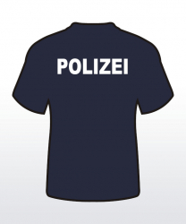 T-Shirt mit Behördenaufdruck beidseitig 1-zeilig