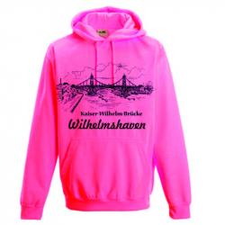 Hoodie Electric Pink Kaiser-Wilhelm-Brücke Wilhelmshaven