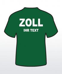 T-Shirt mit Behördenaufdruck beidseitig 2-zeilig
