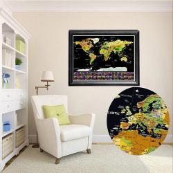 Weltkarte zum Rubbeln 82x59cm