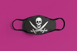 Gesichtsmaske Pirat